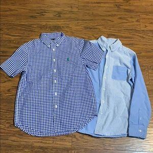 Ralph Lauren & Lands End blue shirt bundle. Medium